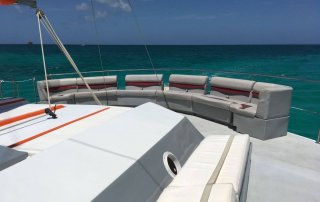 Loungeseats at Catamaran sail charters