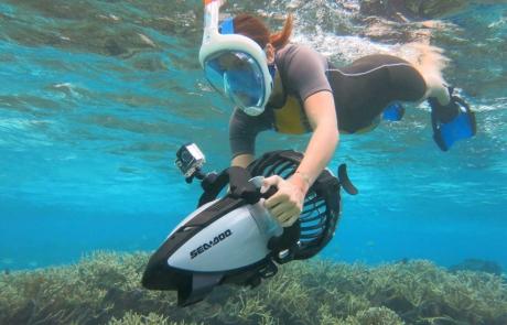 Powersnorkeling at Octopus Aruba