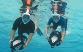 Power Snorkeling at Aruba