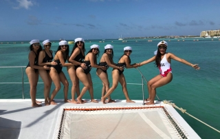 Bachelorette party Aruba at sailing charter