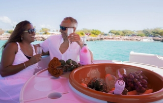 Romantic private champagne brunch boat rental