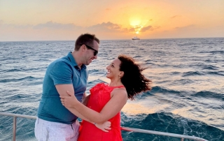 Aruba sunset sailing cruise