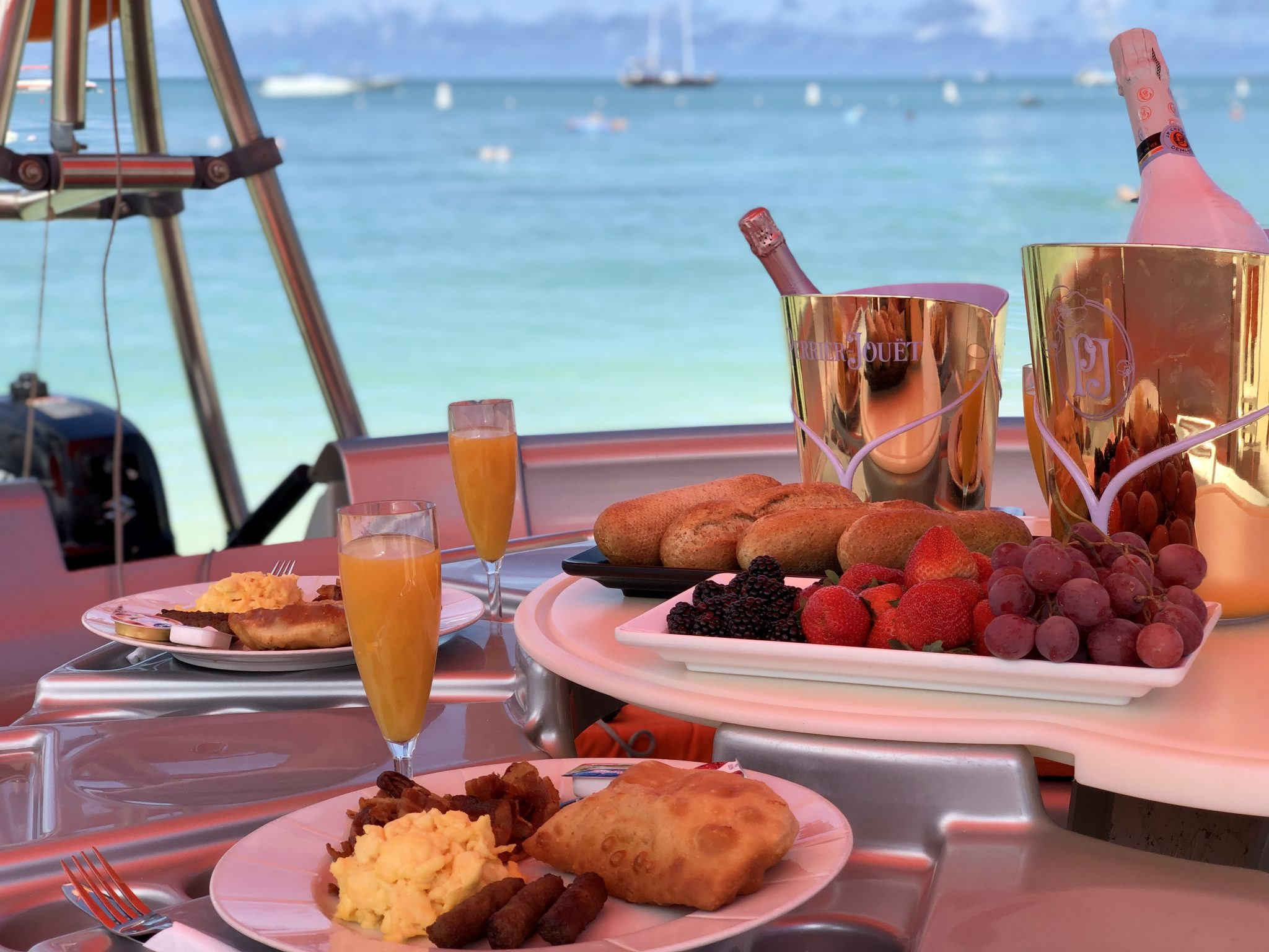 Aruba private brunch at sea