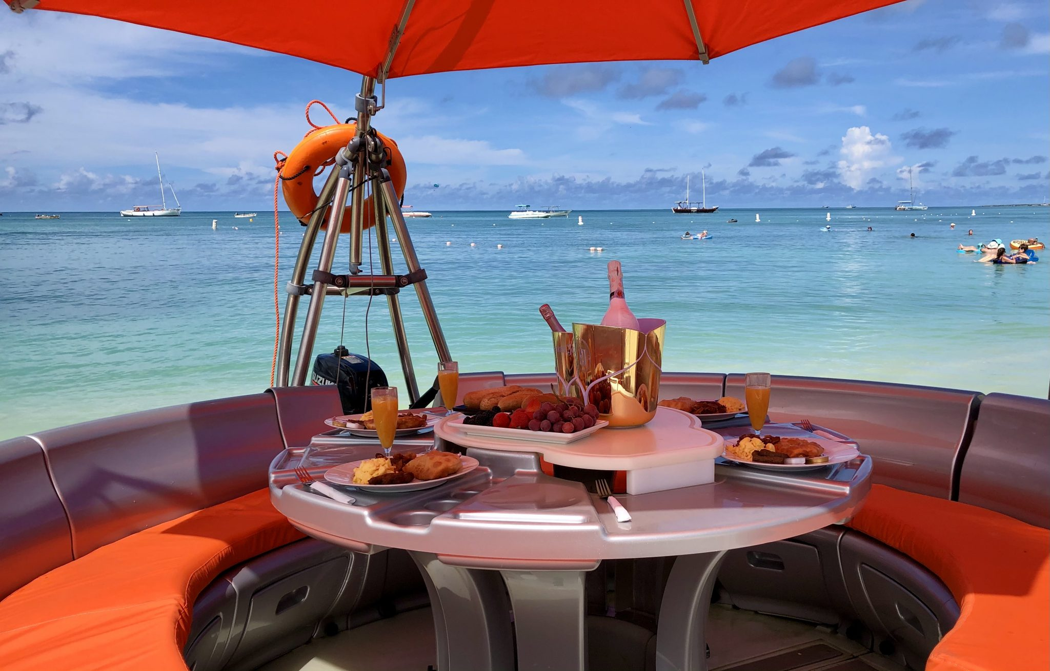 Brunch on the Caribbean sea